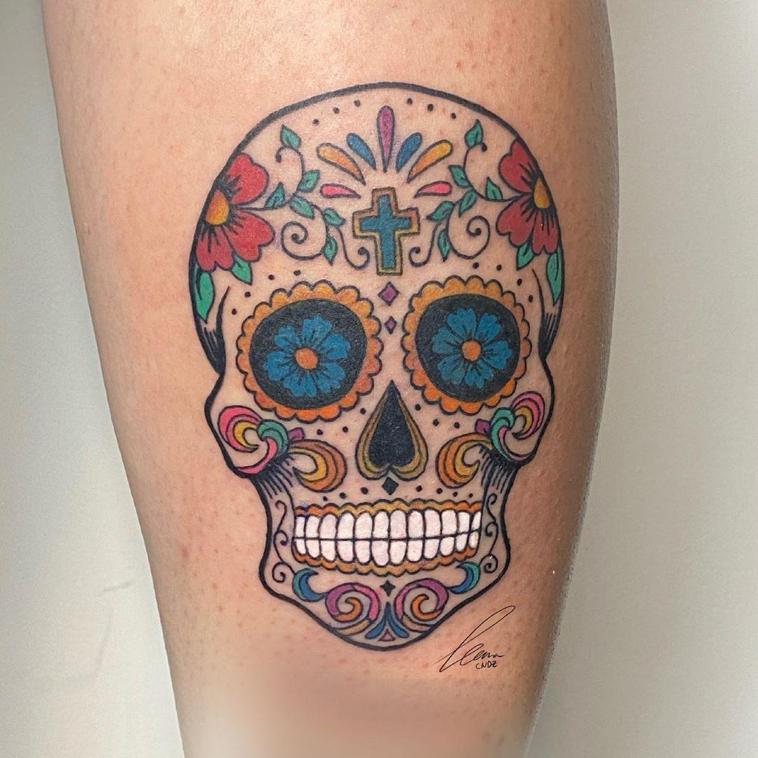 Calavera Mexicana A Todo Color Calaveras Mexicanas Tattoo Tatuajes De Calaveras Mexicanas Calaveritas Mexicanas