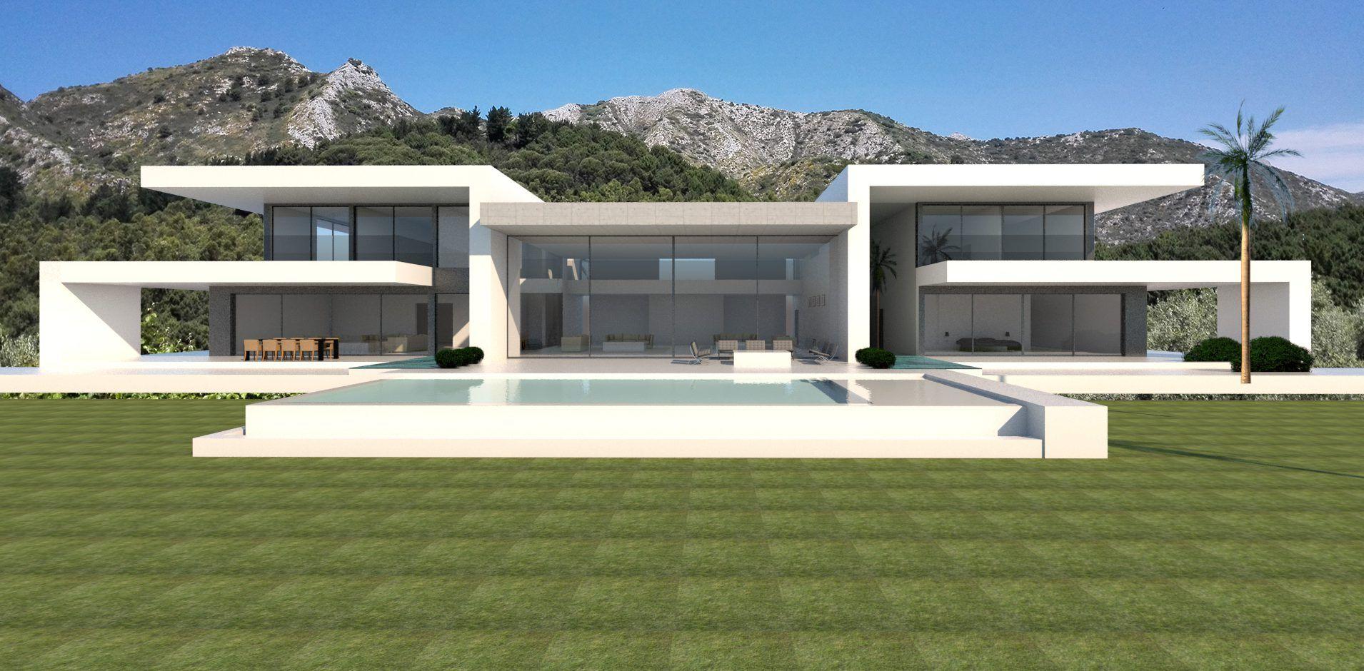 dominant views in marbella club golf belle casas casas modernas et casa modelo. Black Bedroom Furniture Sets. Home Design Ideas