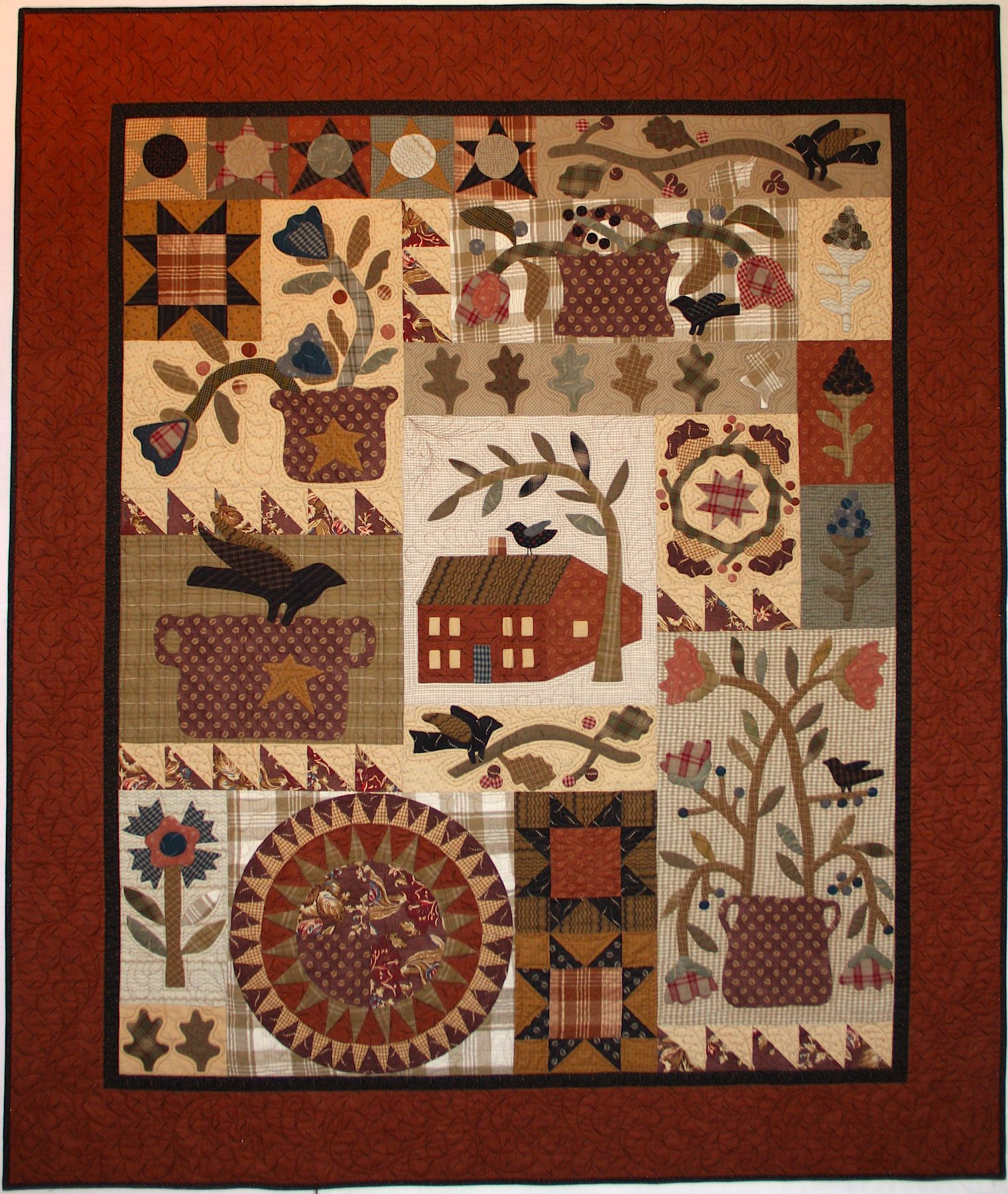Primitive quilt with applique and patchwork...♔... … | Pinteres… : primitive quilting - Adamdwight.com