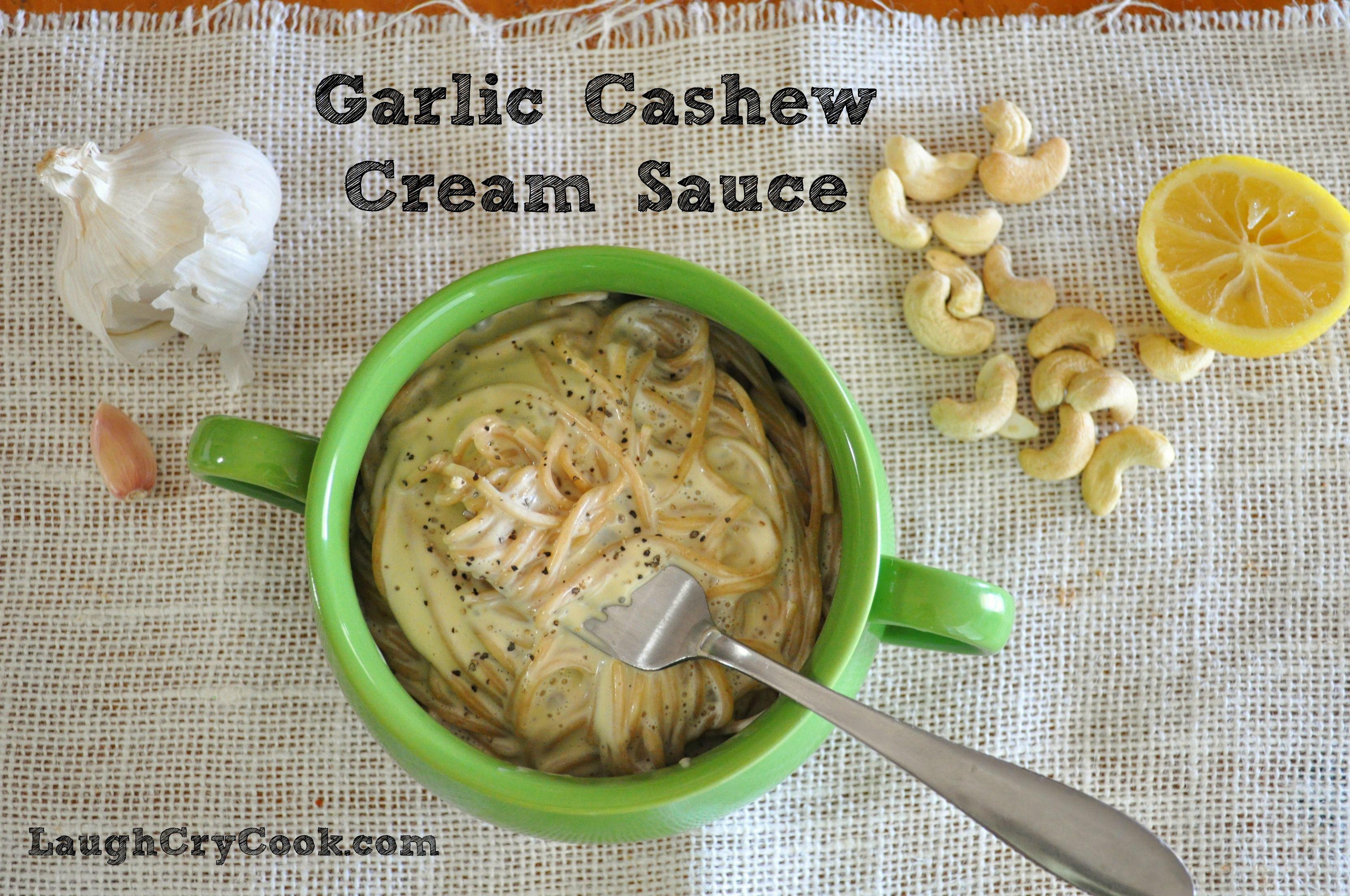 Garlic Cashew Cream Sauce Oil Free Vegan Plant Based Cashew Cream Sauce Whole Foods Vegan Cashew Cream