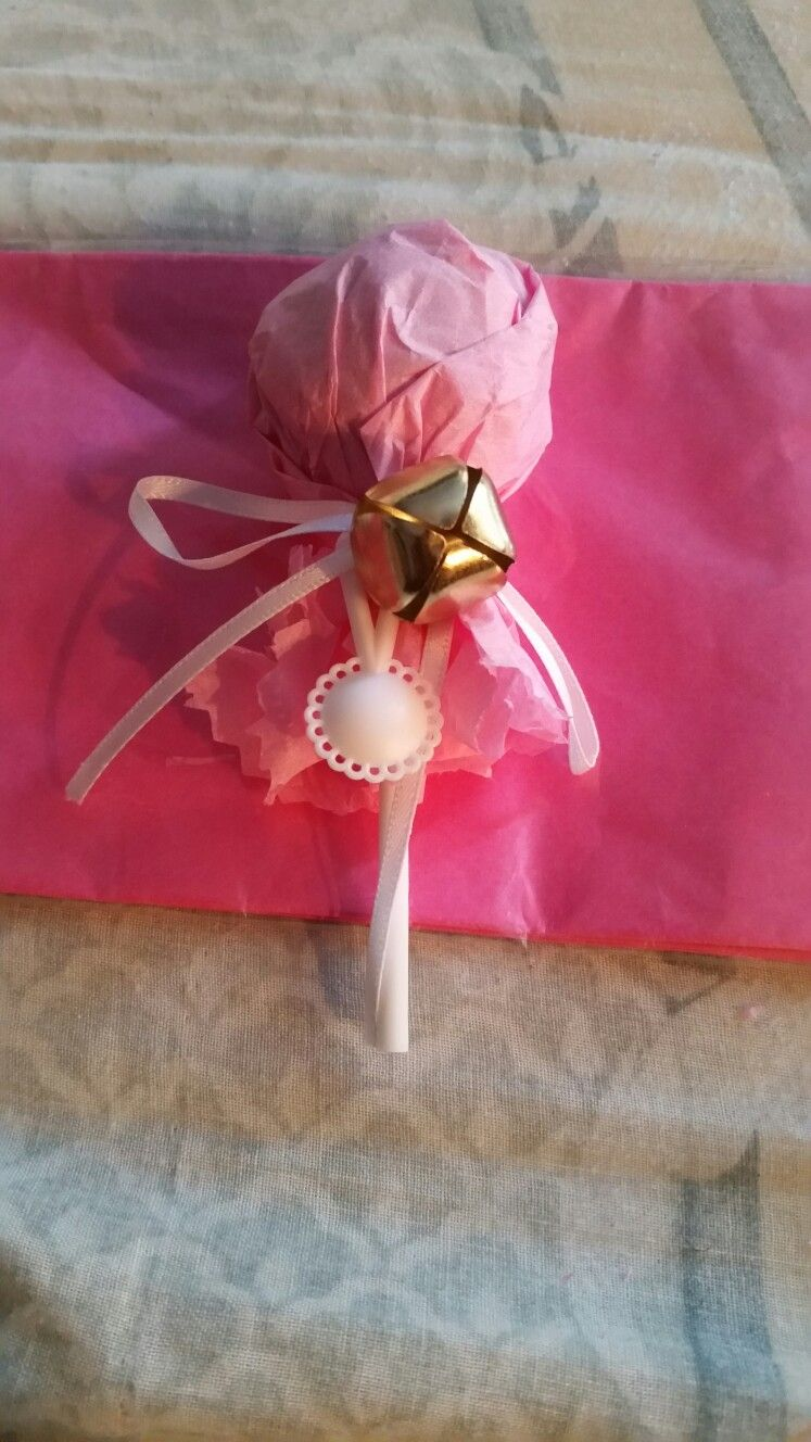 Baby Rattle Favor: Use a lollipop; like a Tootsie Roll or Charms Pop ...