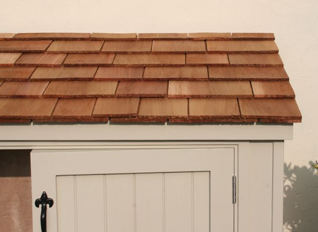 the handmade garden storage company exeter the patio cabinet roof shingles detail - Garden Sheds Exeter