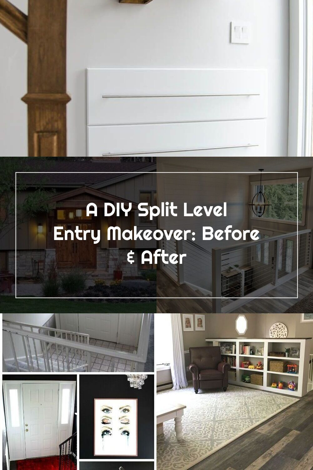 Diy Split Level Entry Makeover I Love This Entry The Oversize Door Scandi Influence And That Shoe Storage