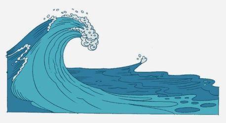 Cuentos Infantiles Pasado Por Agua Dibujo Del Oceano Dibujo De Onda Ilustracion De Olas