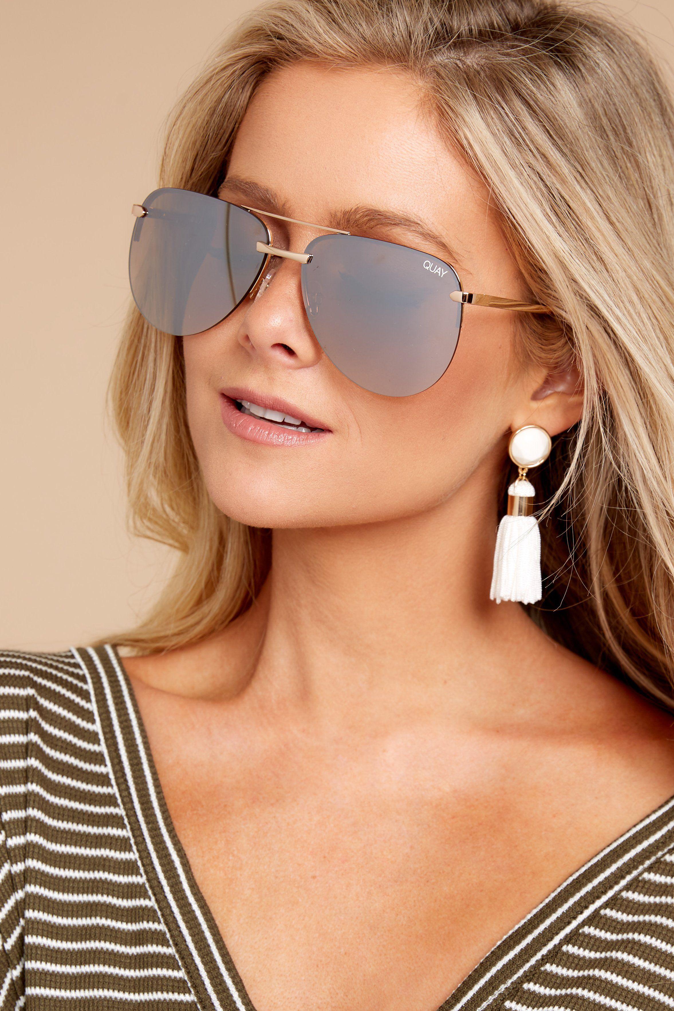 Quay Australia Playa Gold Brown Sunglasses Chic Sunglasses Sunglasses 60 00 Red Dress Boutique Sunglasses Brown Sunglasses Fashion Eye Glasses
