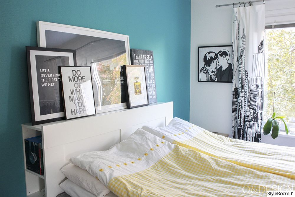 makuuhuone,moderni,turkoosi