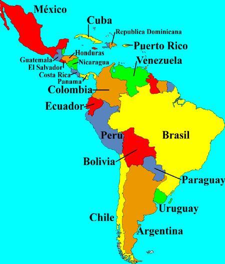 Pr Latin America Middle Countries Map - Berkshireregion on