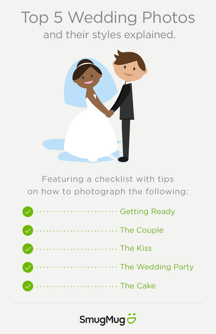 A checklist of the top wedding photos and their styles explained