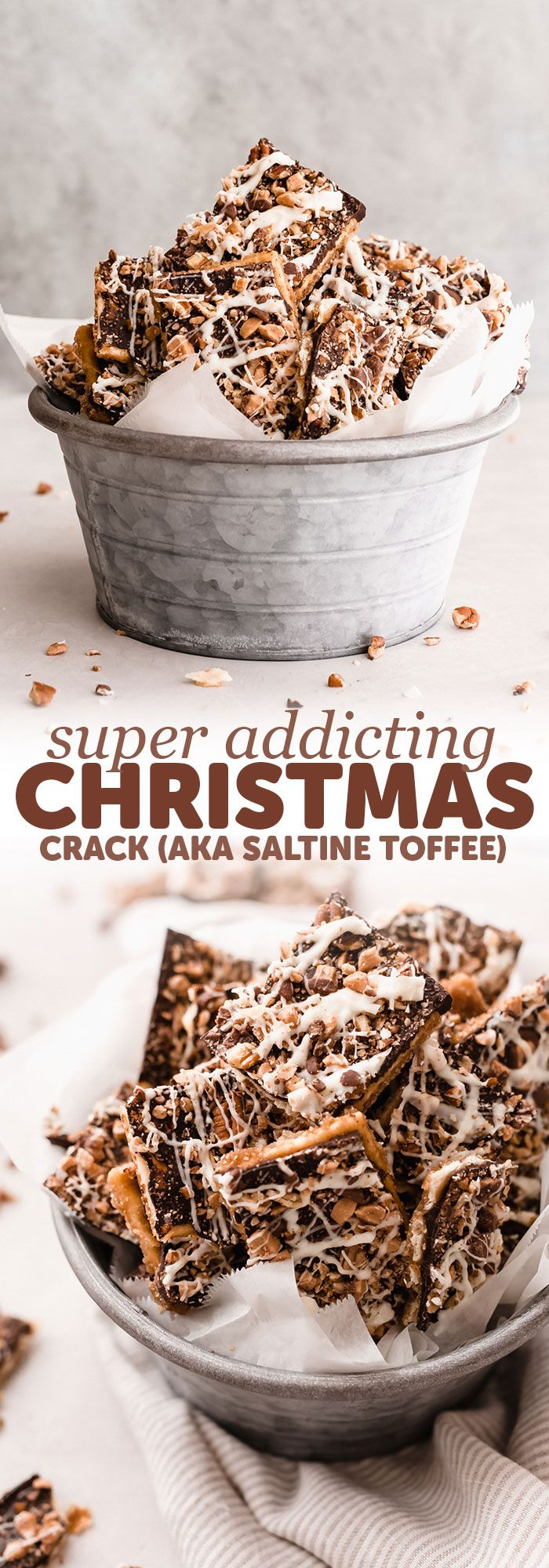 addicting christmas crack saltine toffee bark learn how to make a grown up
