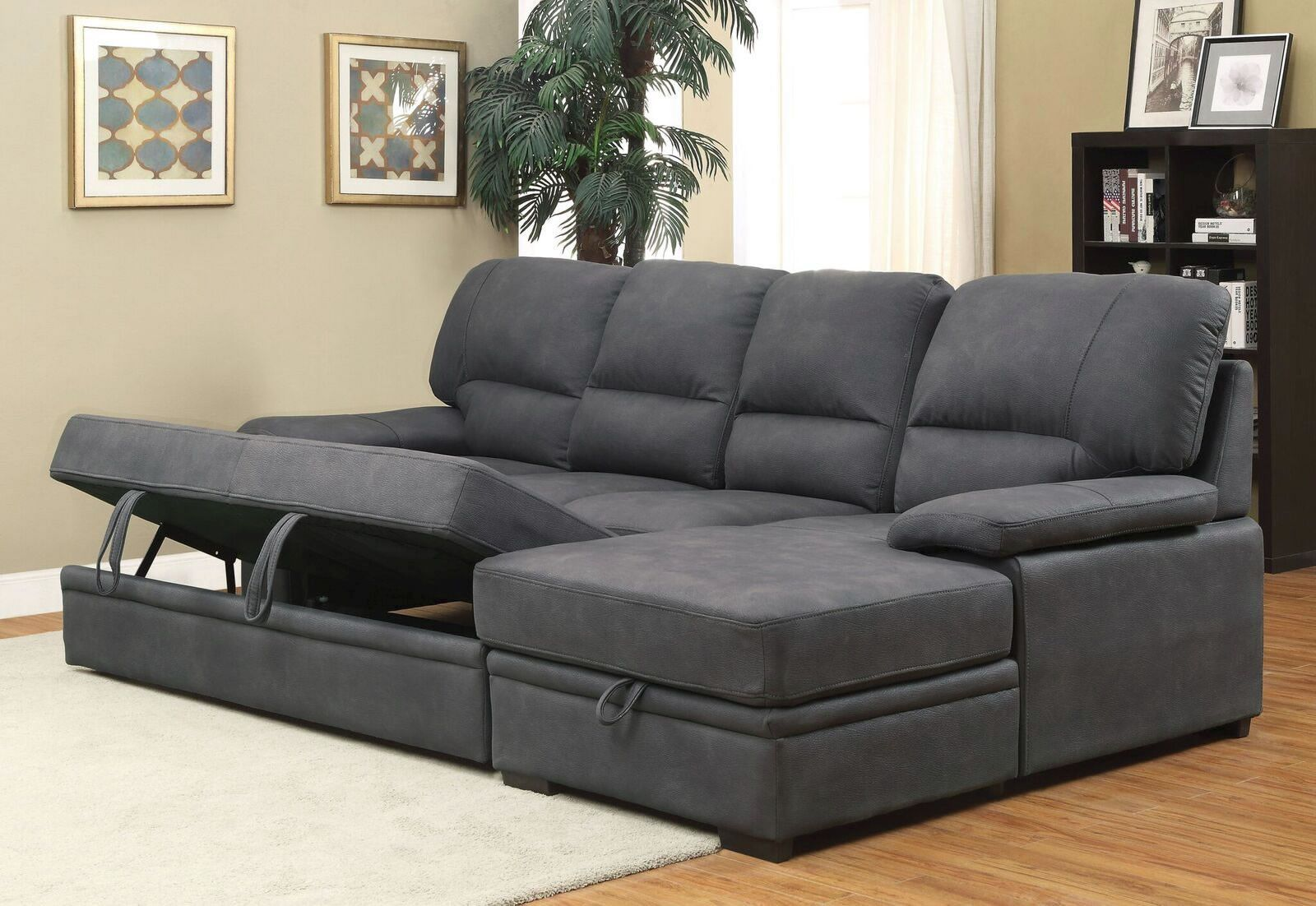 Prime Garo Faux Nubuck Sleeper Sectional Sofa Sleeper Sectional Gmtry Best Dining Table And Chair Ideas Images Gmtryco