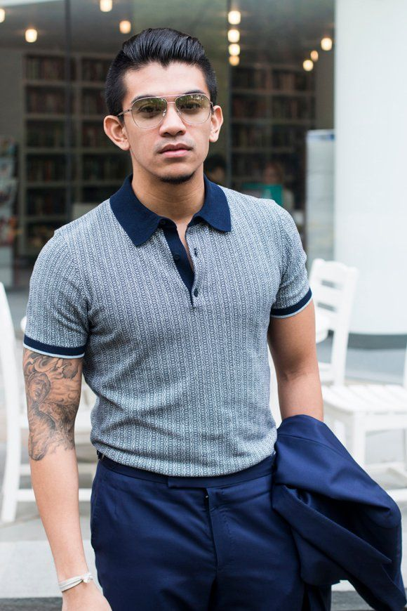 this polo shirt with suit...