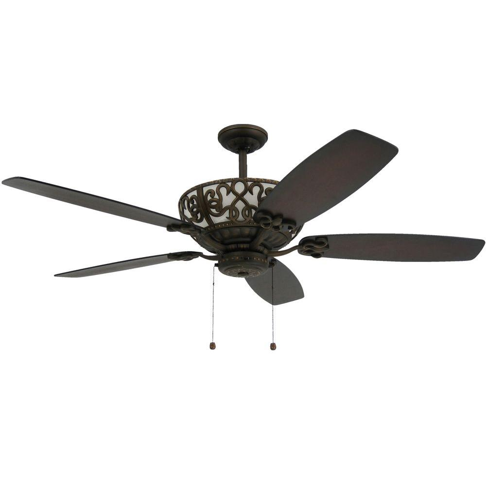 Troposair Excalibur 60 In Rubbed Bronze Uplight Ceiling Fan 88500