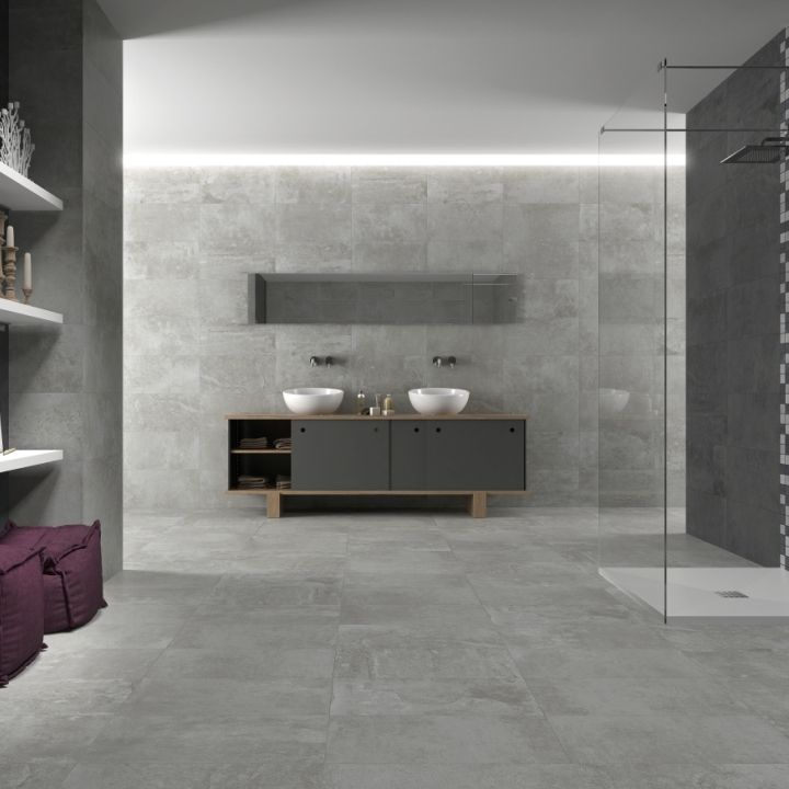 Stone trend grey porcelain tiles are a beautiful choice for grey ...