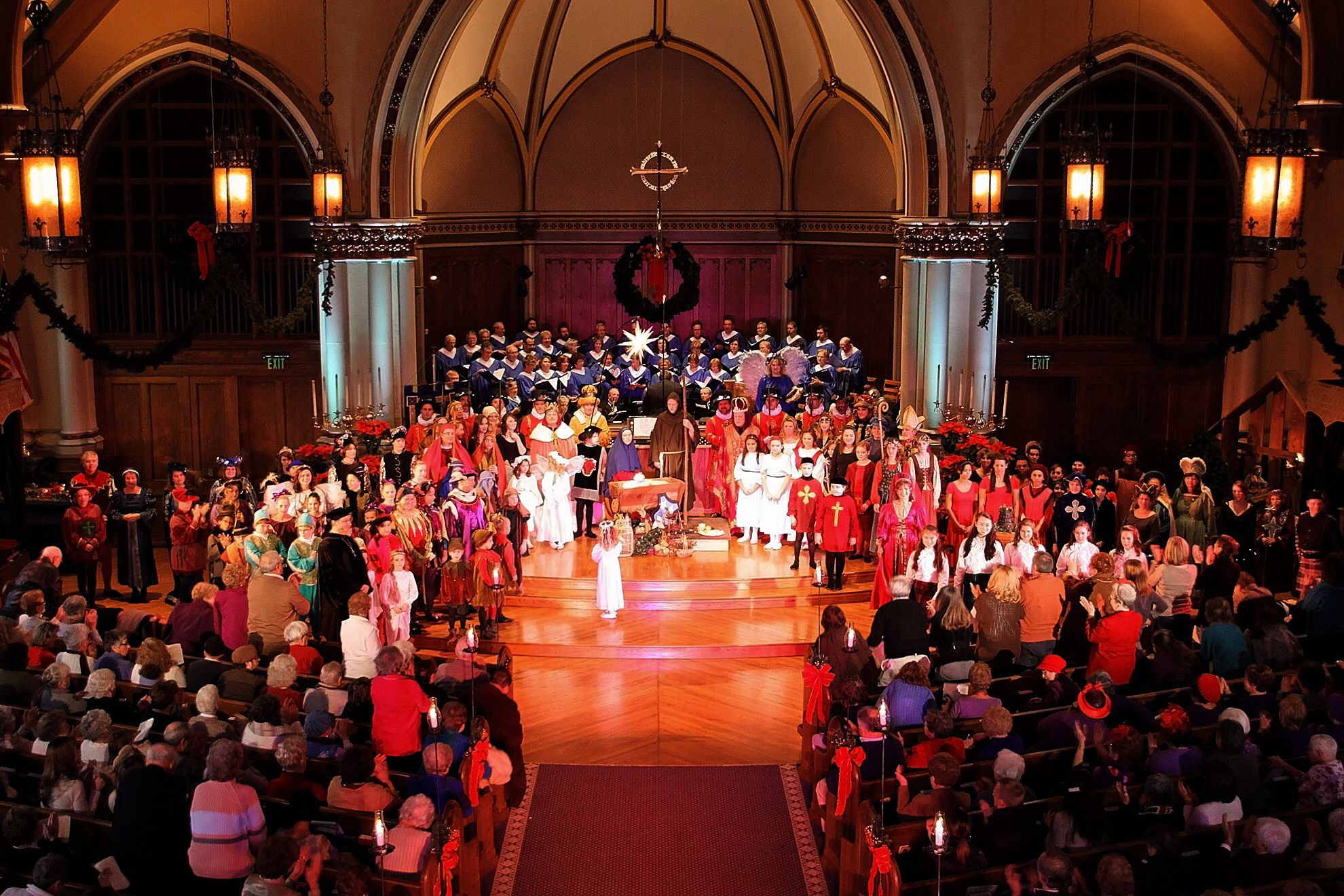 The cast, Twelfth Night Festival, Christ Lutheran Church