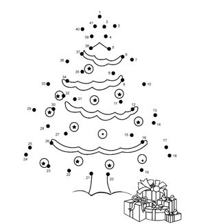 Worksheets Christmas Dot To Dot Printables 17 best images about connect the dots on pinterest