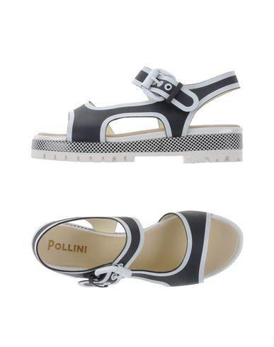 POLLINI Women's Sandals Steel grey 8 US