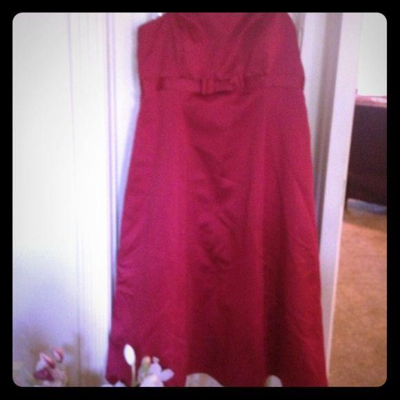 caa8ad2390 David s bridal Dresses   Skirts - Worn once David s bridal apple red dress  size 18