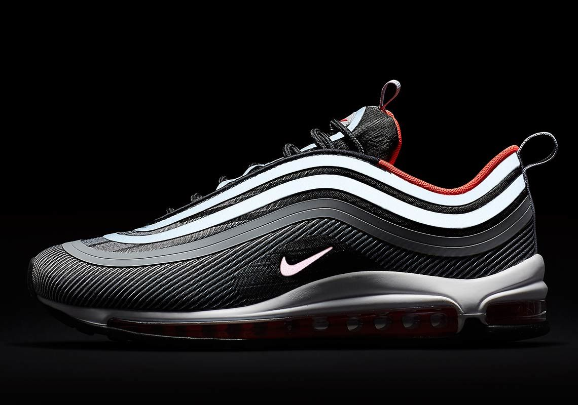 Details about Nike Air Max 97 OG Black 921826 001 Men Running Shoes Old School Trainers UK DS