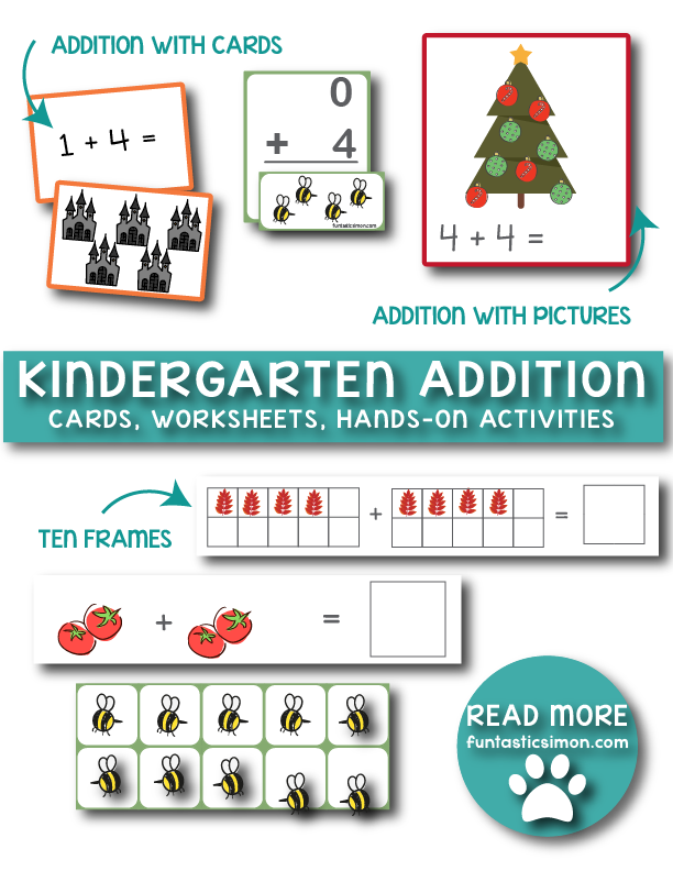 FREE K Addition Worksheets | Addition worksheets, Kindergarten ...
