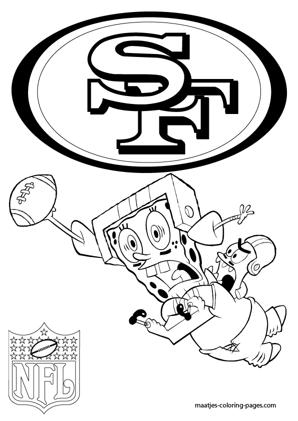more san francisco 49ers coloring pages on maatjes coloring pagescom