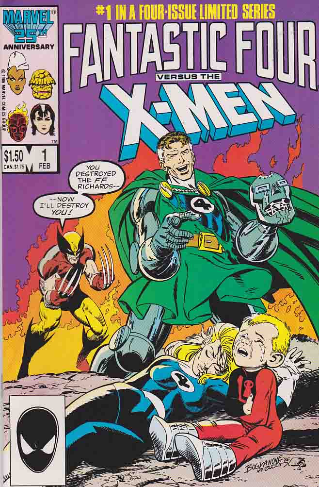 Fantastic Four Vs The X Men Is A Four Issue Comic Book Limited Series Published By Marvel Comics In 1987 Written In 2020 Comic Books For Sale Rare Comic Books Comics