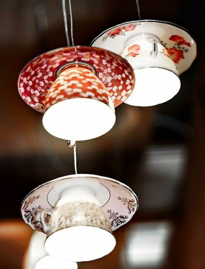 Photo of DIY lamp: 76 super cool craft ideas