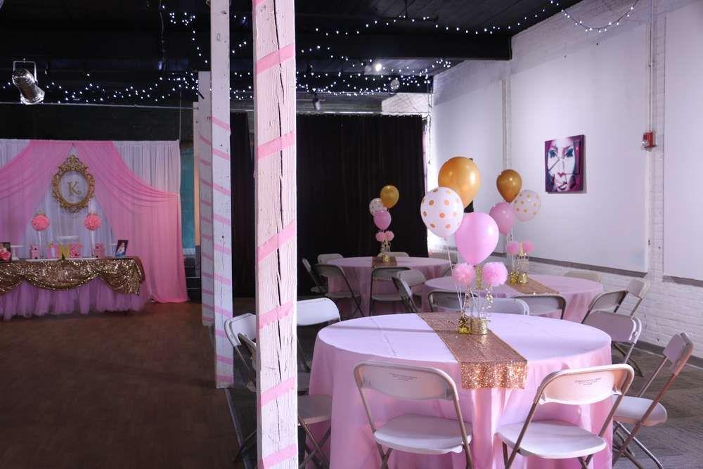 Princess Glitz Pink U0026 Gold Birthday Party Ideas