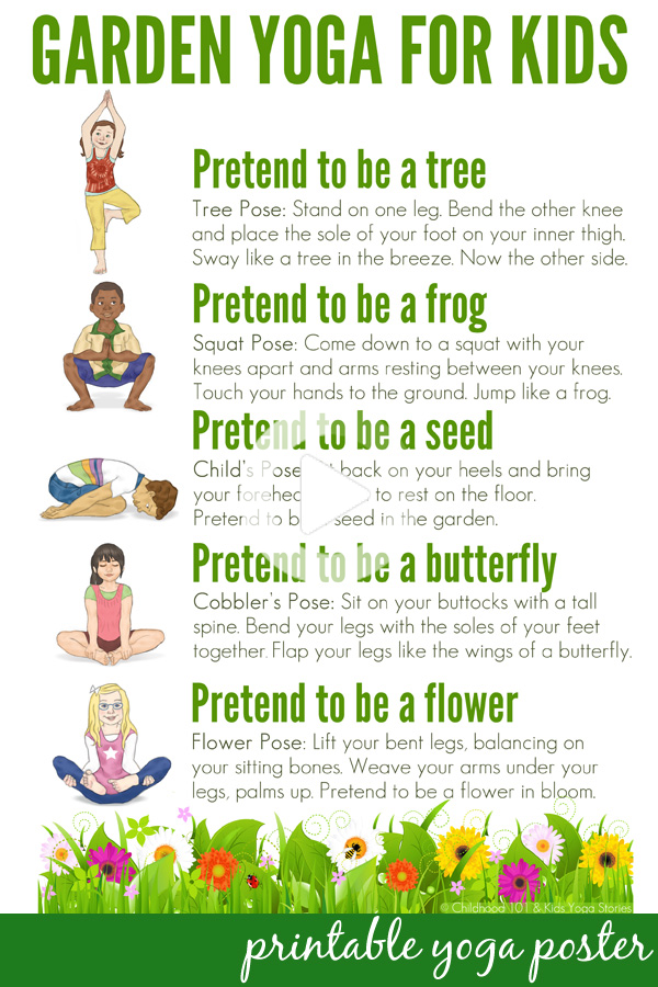 Take a walk through nature with this garden themed yoga for kids routine. Suitable for use with chil...