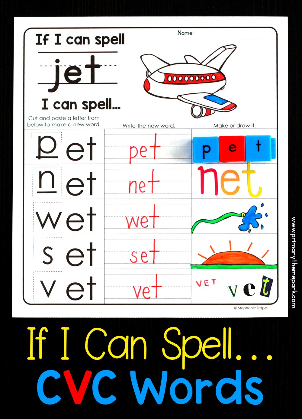 If I Can Spell Worksheets Spelling Cvc Words New Vocabulary Words Word Family Practice