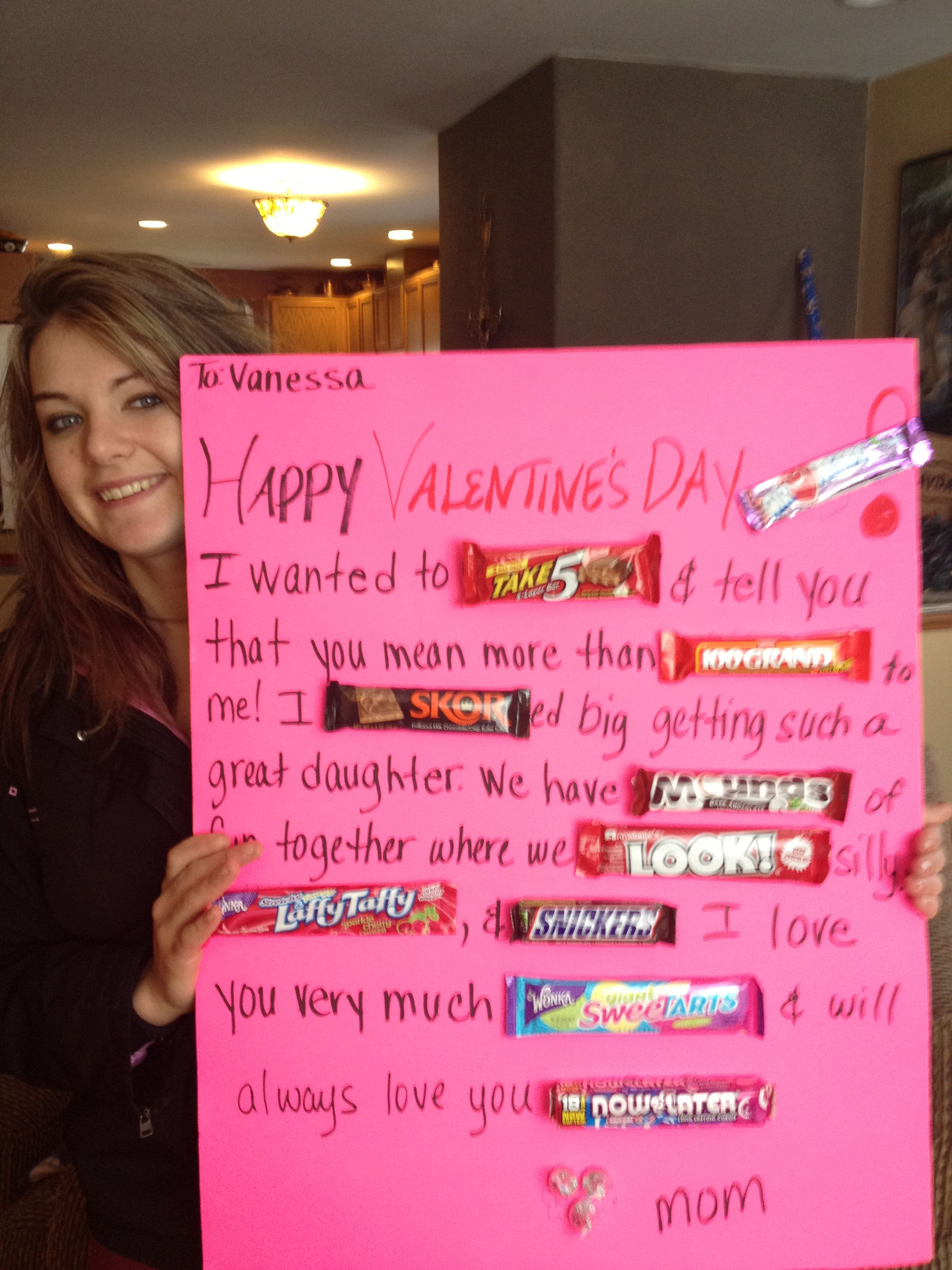 Made this cute candy bar poster for my daughter for