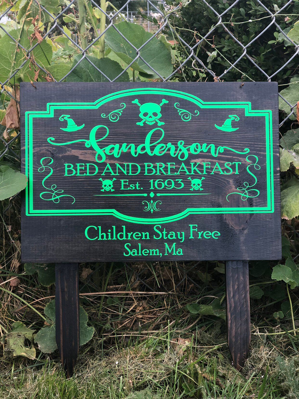 Sanderson Bed and Breakfast Est. 1693 Yard Sign for