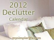 2012 Declutter Calendar - one task/day
