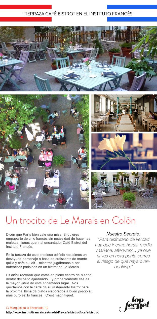 Terraza Café Bistrot En El Instito Francés Un Trocito De Le
