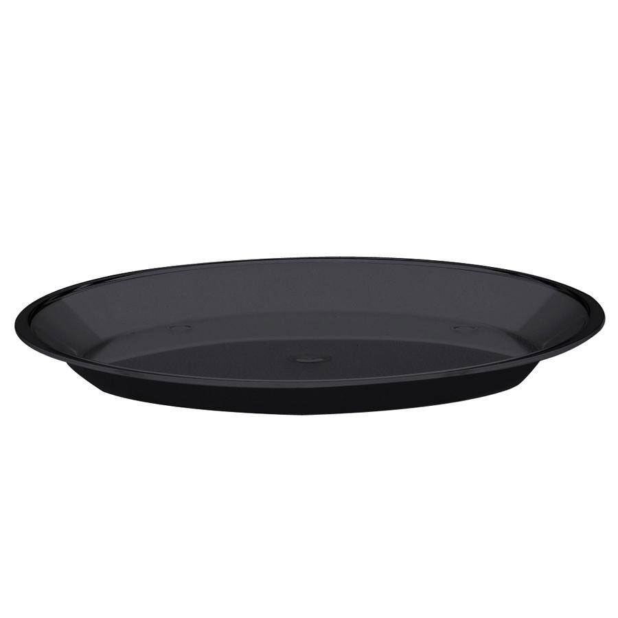15DIA x 1H Turn N Serve Shallow and Deep Trays Black/Case of 4