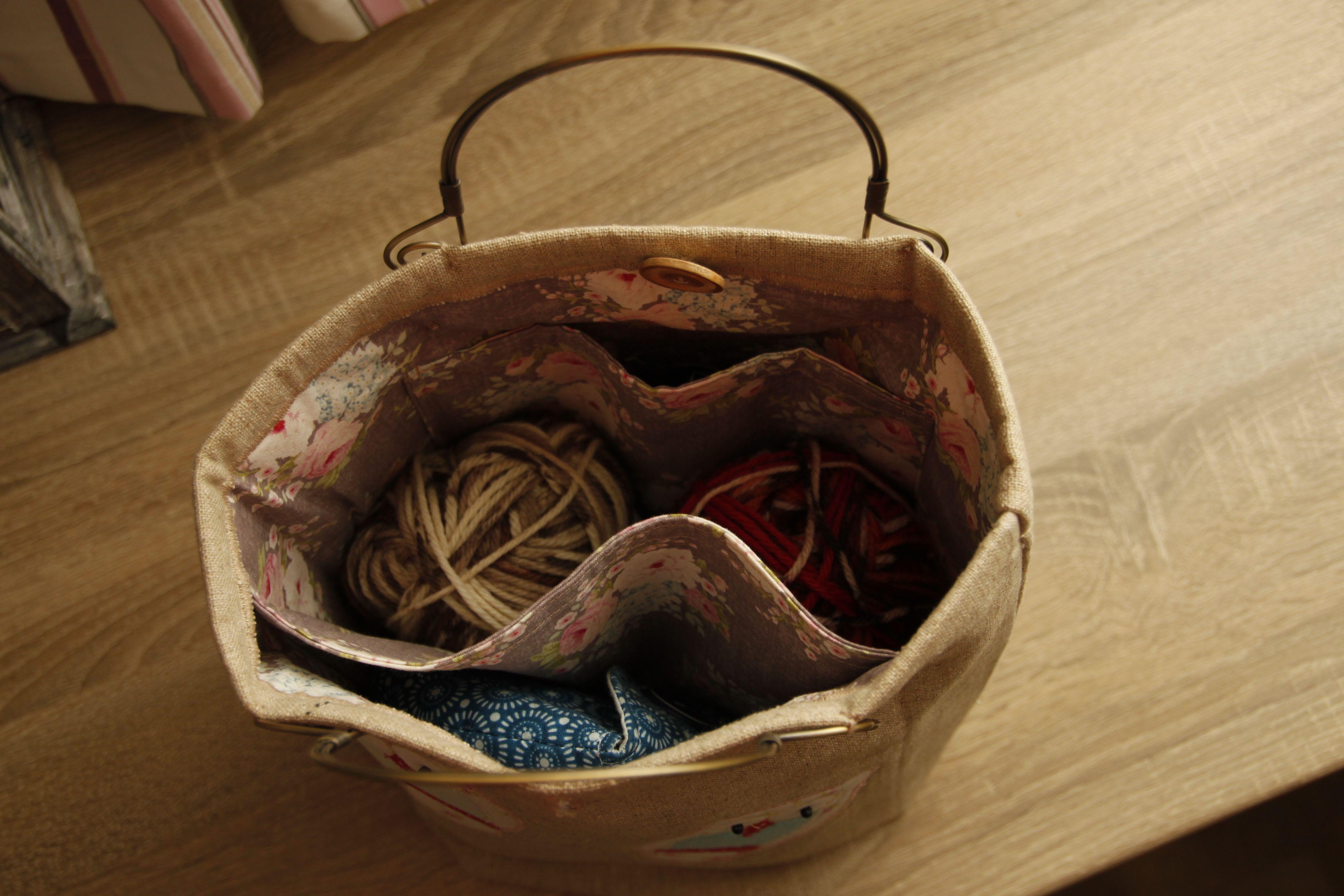 Stor strikketøyveske