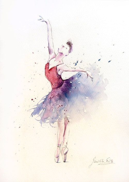 Download Free Ballerina Watercolor Painting Tattoo To Use And Take Your Artist