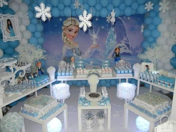 Decoracion de frozen de globos
