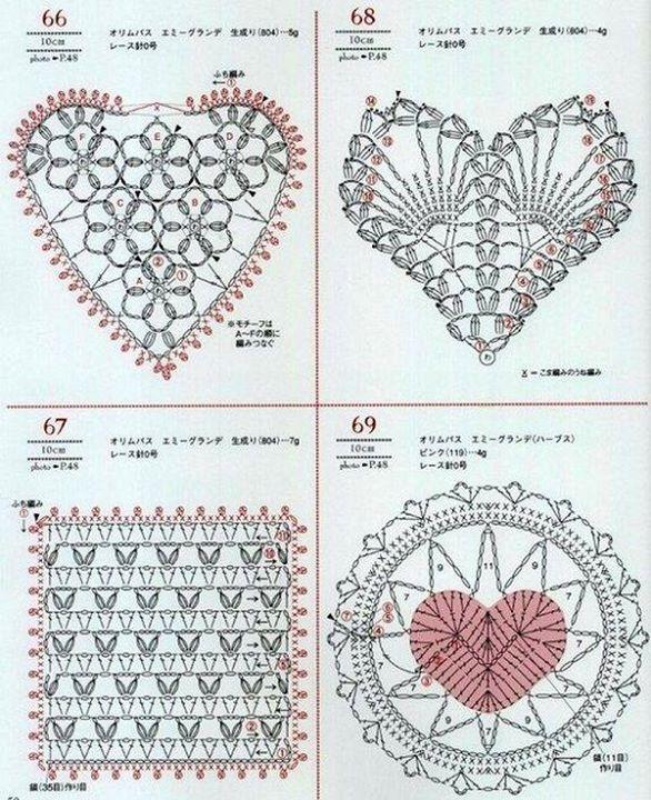 Corazón | Casorio | Pinterest | Ganchillo, Corazones de ganchillo y ...