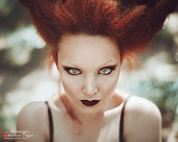 Photo from my odessa workshop :) OKeyteam, арт, коллаж, портретная фотография, девушка, яркие волосы, свет, портрет, фэшн, платье, рыжие волосы, ходули, высокий рост, камыш, оленьи рога, рога, мистика, сказка www.okeyteam.com