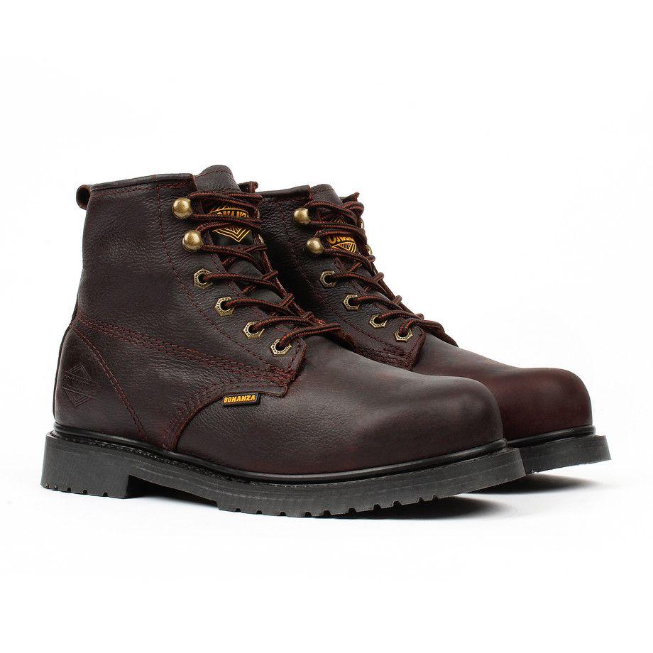 Slip-Resistant Work Boots // Brown