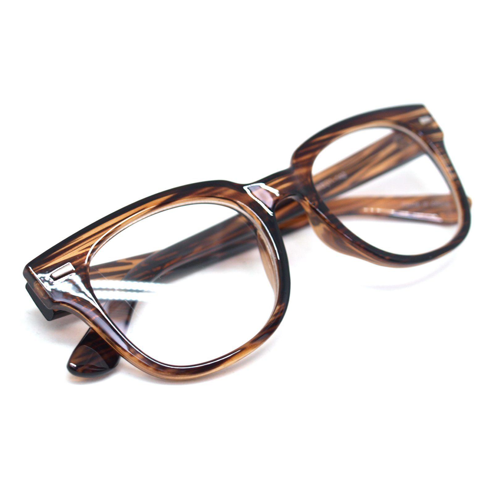 d1c5c223f0a6e Nerd Geek Oversized Eye Glasses Horn Rim Retro Framed Clear Lens ...