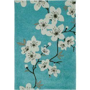 buy blossom rug 170x120 duck egg at argoscouk visit argos