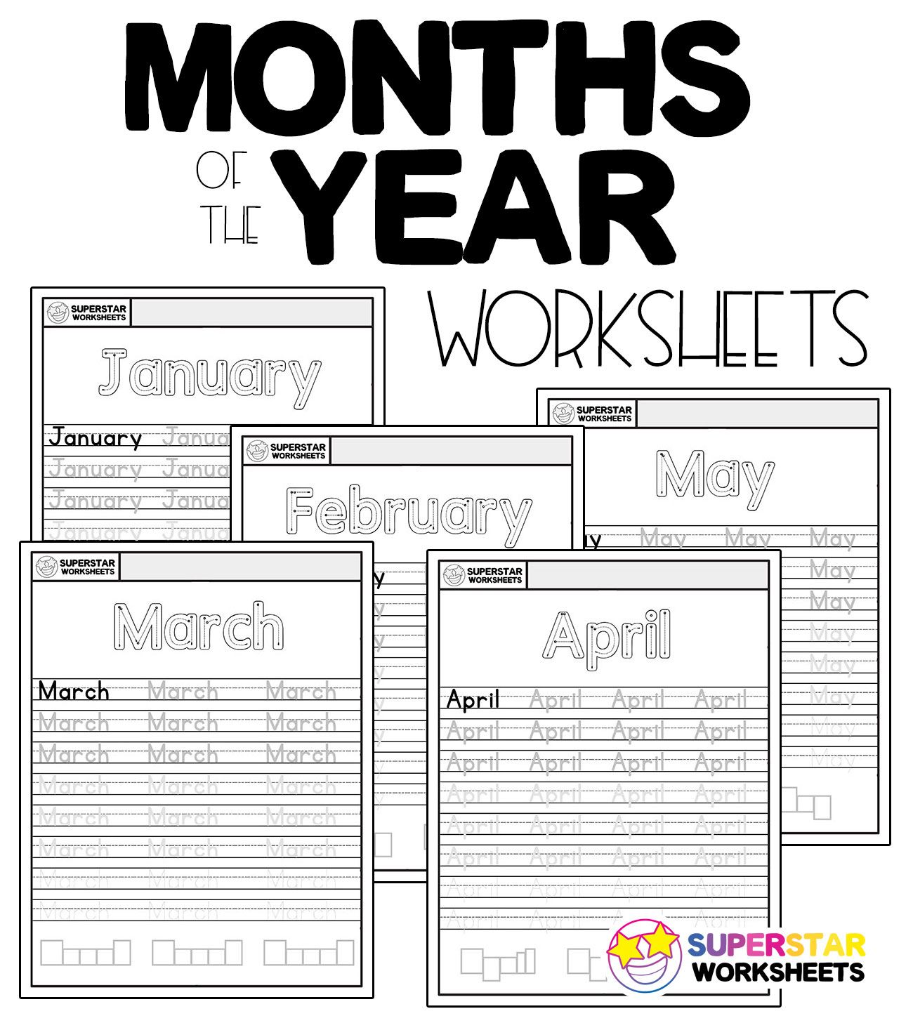 Free Months Of The Year Handwriting Worksheets In