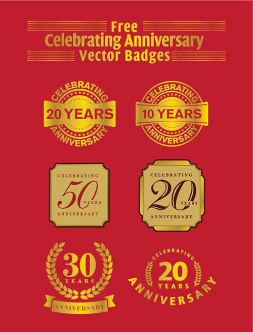 years anniversary vector badges ai  eps psdbadges vintagebadges retrobadges logos also rh in pinterest