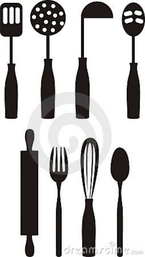 Exceptionnel Cooking Utensils Clip Artcooking Culinary Kitchen Utensils Clip Art Royalty  Free Stock Dvcxhic | Demenglog.com