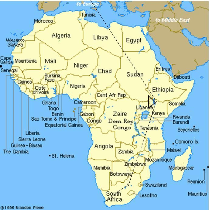 wwwtheharalsons photos africajpg Ancestral Waters - new world map of africa