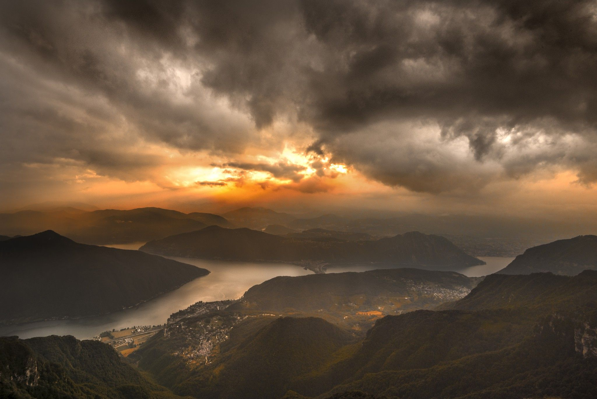 Nature Landscape Mountains Clouds Sunset Mist Far View Photography Wallpapers Hd Desktop And Mobile Backgrounds Landscape Background Photography Wallpaper