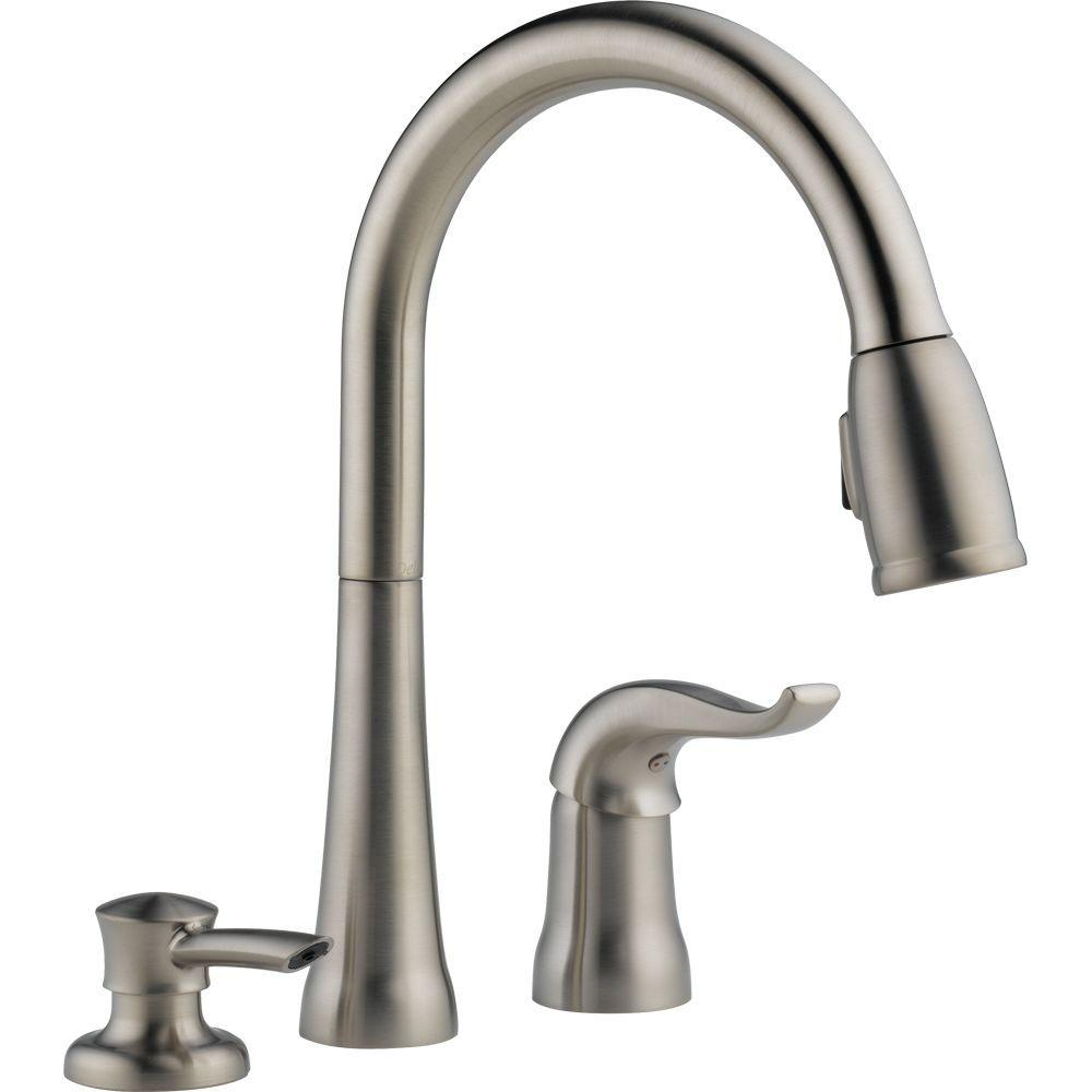 delta kate single handle pull down