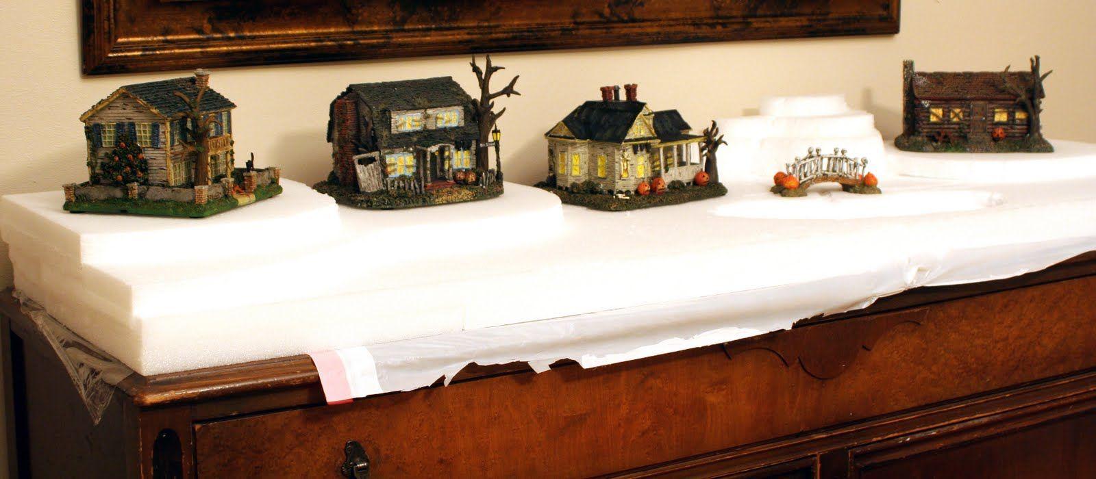 Christmas Village Platforms.Dirt Cheap Decor Halloween Village Platform Can Be Used