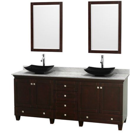 Photo Gallery For Photographers Wyndham Collection Acclaim inch Double Bathroom Vanity in White White Carrera Marble Countertop